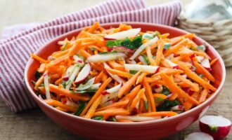 Рецепт корейского салата из редиса